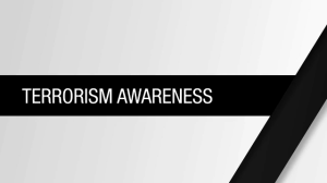 terrorism awearness